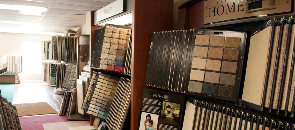 Photo of a small area of the Arnold Flooring showroom
