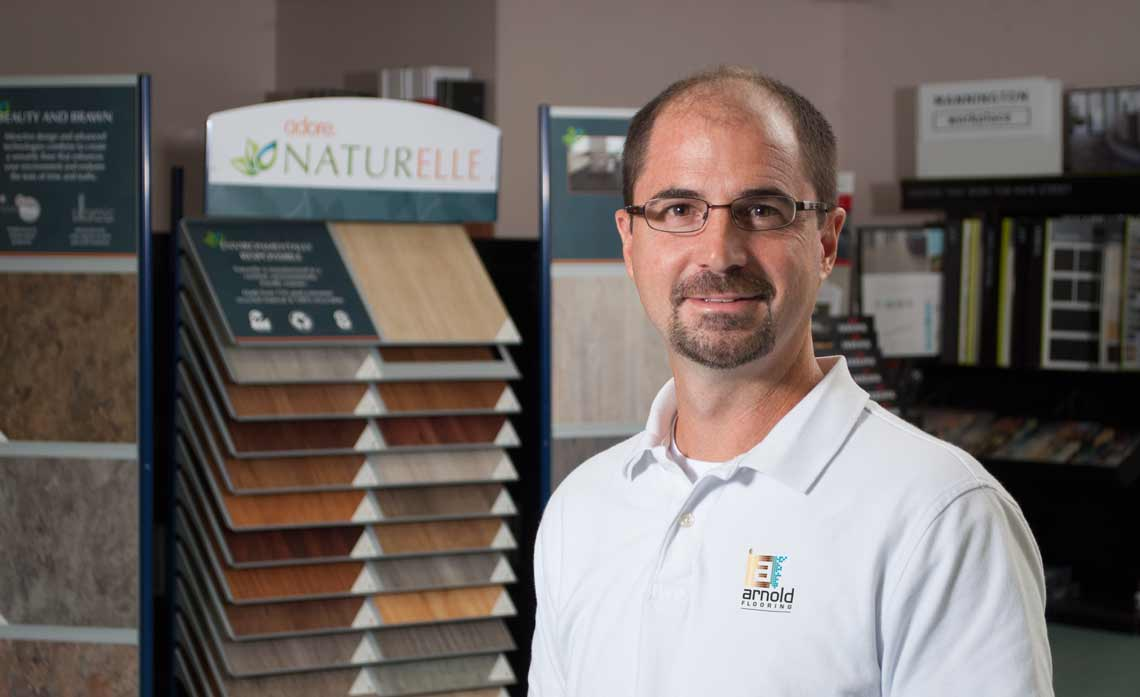 Photo of Mike Arnold of Arnold Flooring